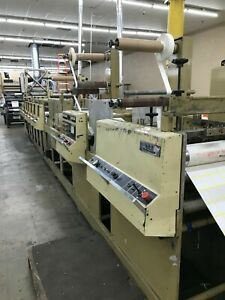 16 Mark Andy 4120 Flexographic Printing Press