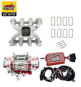 Skspeed Ls1 Carb Intake Kit Edelbrock Victor Jr Int msd 6014 quickfuel Q 950