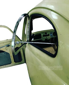 Safari Vw Beetle Side Pop out Window Stainless Steel Kit For 1959 1974