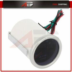 2 52mm Digital Red Led Electronic Tachometer Tacho Gauge Meter 0 8000 Rpm