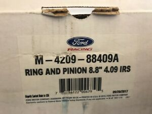 Ford Racing 8 8 Rear End 4 09 Ratio Ring Pinion Gears Kit M 4209 88409a