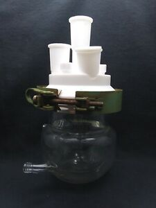 Chemglass 200ml Glass Jacketed Reaction Vessel Body Lid And Clamp