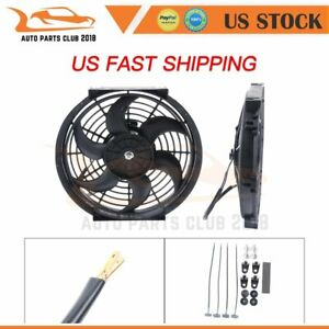 10 Inch Brand Universal Radiator Ac Condenser Electric Plastic Cooling Fan 2x