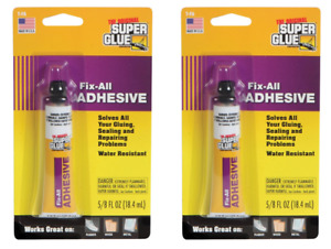 2pk Fix all Sealant All Purpose Super Glue Adhesive For Rubber Wood Metal Fabric