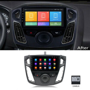 For 2012 17 Ford Focus Car Stereo Radio 9 Android 9 1 Gps Obd Wifi Canbus Us