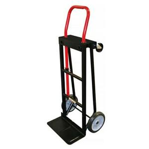 300 500 Lb Capacity Convertible Hand Truck 2 Puncture proof Tires And 2 Swivel