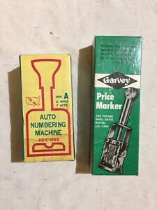 Vintage Lightning Auto Numbering Machine Type A Garvey Price Marker