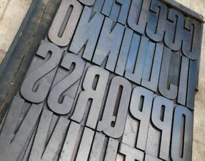 Huge Wood Type Character 7 09 you Choose your Letter Letterpress Abc Font