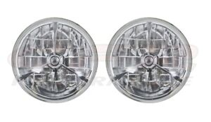 Tri Bar Headlights 7 3 4 W O Signal Blue Dot