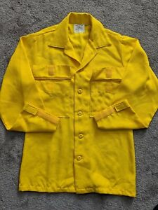 Aramid Wildland Firefighter Fire Shirt Yellow Button Small Bia Blm Nps Usfs x