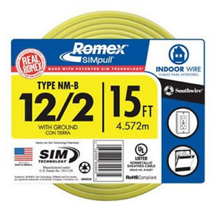 Southwire Romex Simpull 28828226 12 2 15 Nm b W g Wire New Free Shipping