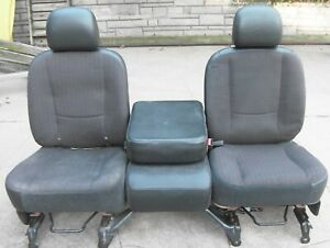 2002 2006 Dodge Ram 1500 2500 3500 Front Cloth Seats Center Console Jump Seat