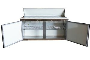 A c e Sandwich salad Refrigerated Prep Table 60 Wide Double Door Cabinet