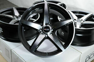 16 Wheels Honda Accord Civic Miata Clubman Cooper Corolla Yaris Black Rims 4