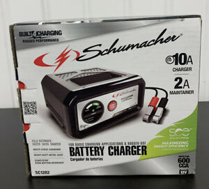 Schumacher Sc1282 10amp 12v Battery Charger Maintainer Car Motocycle Rv Boat New