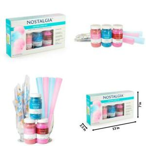 Nostalgia Fscc8 Cotton Candy Party Kit With 3 Flavors Ofnbsp flossing Sugars R