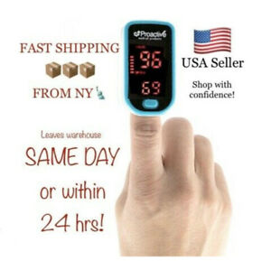 Proactive Fingertip Pulse Oximeter Monitor Blood Oxygen Level Spo2 Heart Rate