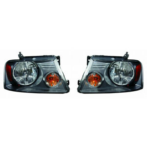 Fits 2007 2008 Ford F 150 Head Light Assembly Pair Capa Certified