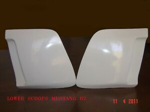 1967 1968 Ford Mustang Eleanor Lower Scoops