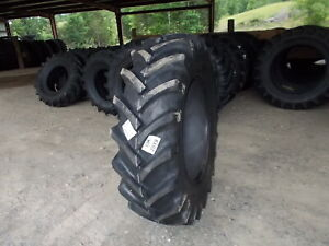 Two New 18 4 34 R1 14 Ply Tractor Tires