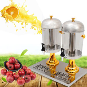 Stainless Steel Commercial Juice Beverage Refrigerated Drink Dispenser Machine