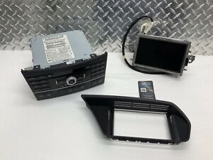 10 13 Mercedes W212 E350 Navigation Dash Display Screen Radio Head Unit Bezel
