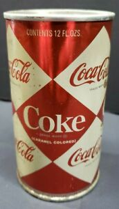 VINTAGE COCA COLA DIAMOND FLAT TOP CAN AS PICTURED