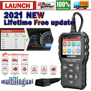 2021new Launch Obd2 Scanner Code Reader Scan Tool Car Diagnostic Mil Turn Off