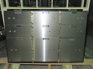 9 Door Safe Deposit Box With Cabinet