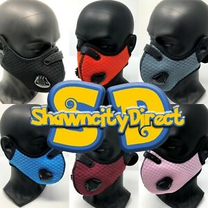 Shawncitydirect Face Mask With Filter With Air Breathe Vents 6 Colors