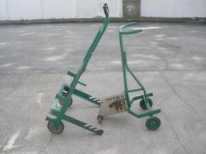 Lot Greenlee 1818 Mechanical Bender And Greenlee 916 Cable Reel Transporter