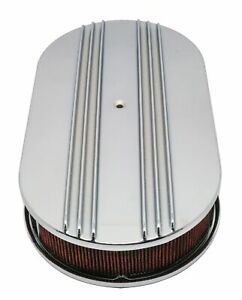 Chevy ford mopar Aluminum 15 Oval Air Cleaner Paper Filter Partial Finned Ch