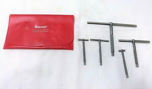 Starrett No S229g Set Of Five Telescoping Gauges Excellent As Shown
