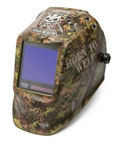 Lincoln Electric Viking 3350 Born To Weld Auto darkening Welding Helmet K3616 3