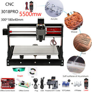3018 Pro 5500mw Grbl Control Milling Machine Wood Router Engraver With Er11 F7f2