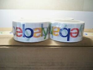 36 Rolls Official Ebay Branded Shipping Packing Tape 2 X 75 Yards Multi Color