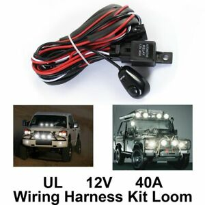 New Led Work Light Bar Remote Control Wiring Harness Switch Kit Relay Fog Lamp