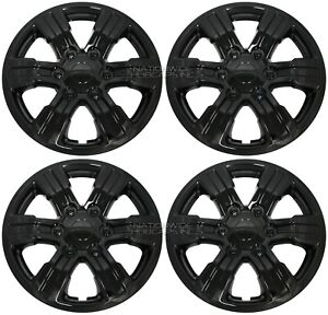 4 For 2018 2021 Ford Ranger Xl Black 16 Hub Caps Snap On Wheel Skins Rim Covers