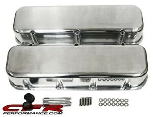1965 95 Chevy Big Block 396 427 454 502 Tall Polished Aluminum Valve Covers Sm