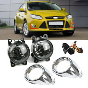 For Ford Focus 2012 2014 Clear Lens Fog Lights Lamps Cover W Switch