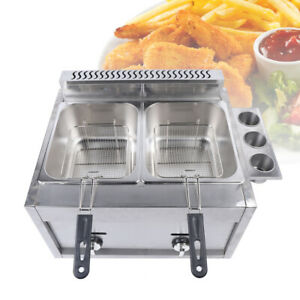 Deep Fryer 6l 2 Liquid Propane Or Natural Gas Commercial Countertop Kitchen