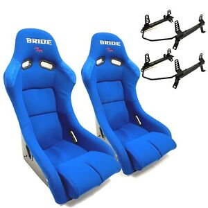 Bride Vios 3 Iii Blue Low Max Pair Seats W Low Down Rail Acura Rsx Dc5 02 06