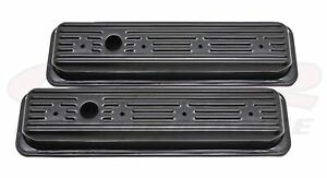 Steel 1987 00 Chevy gmc 5 0l 5 7l Center Bolt Valve Covers Black