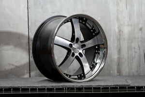 New Vossen Wheels Vvs 84 Black Machine Face 19x10 Et58 Bolt Pattern 5x112