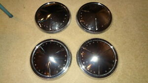 1960 60 Pontiac Catalina Ventura Dog Dish Hubcaps Poverty Hub Caps