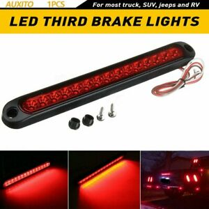 15 Led Car Tail Third Red Brake Stop Light Reversing Lights Strip Bar Warning