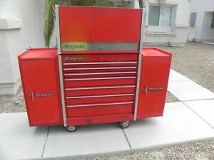 Snap On Kr 637 Kr 657a Roll Chest W Flip Top Box 2 Snap On Kr274 Side Cabine