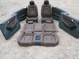 08 16 Audi 8t A5 Coupe Front Rear Left Right Door Panel Seat Set 022119b
