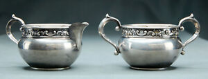 Gorham Strasbourg Sterling Silver Creamer 1133 And Sugar 1132