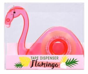 New Pink Flamingo Refillable Tape Dispenser W Clear Tape Fun Cute Desk Supplies
